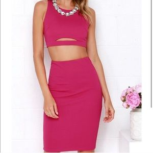 Perfect Pair Fuchsia Two Piece Dress